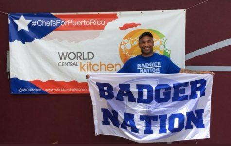 Chef Jason Walsh represents the Badger Nation in Puerto Rico as he helps the World Central Kitchen charity organization improve living conditions in the hurricane ravaged territory.