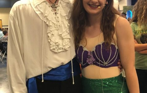 The leads of The Little Mermaid, senior MacKenzie McLendon and senior Cory Neville, were a great Princess Ariel and Prince Eric.