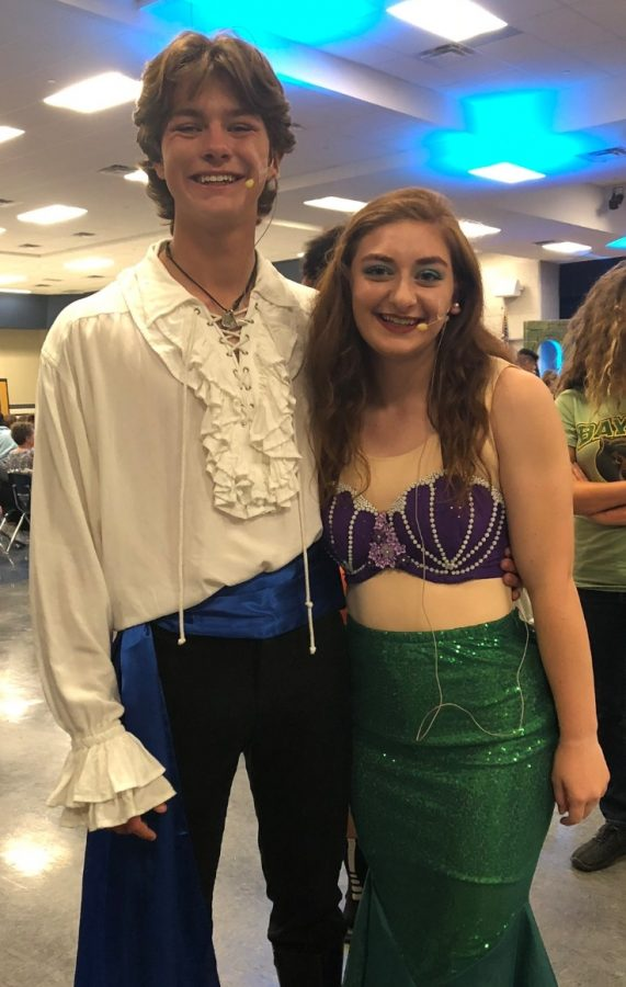The+leads+of+The+Little+Mermaid%2C+senior+MacKenzie+McLendon+and+senior+Cory+Neville%2C+were+a+great+Princess+Ariel+and+Prince+Eric.