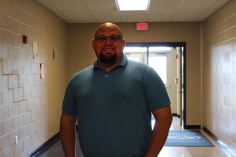Math teacher Ryan Race is one the winners of the Teacher of the Year Award.