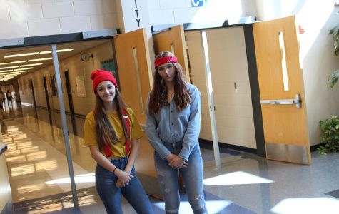 Seniors Kailey Brockett and Brayden Martin dress as their favorite dynamic duo, Cheech and Chong, during homecoming week.