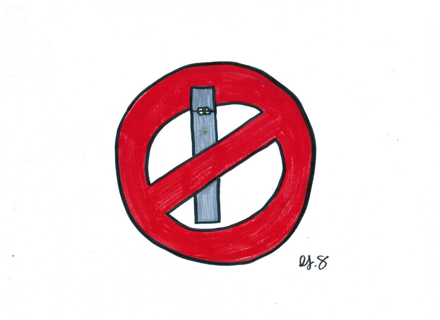 The new district policy for having a vape on campus is 6 days of ISS for the first offense, 10 days of ISS for the second offense, and 15 days of DAEP for the third offense.​