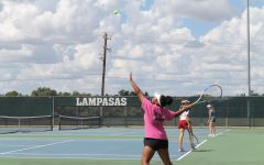 Tennis Team To Finish District Play At Burnet Tournament