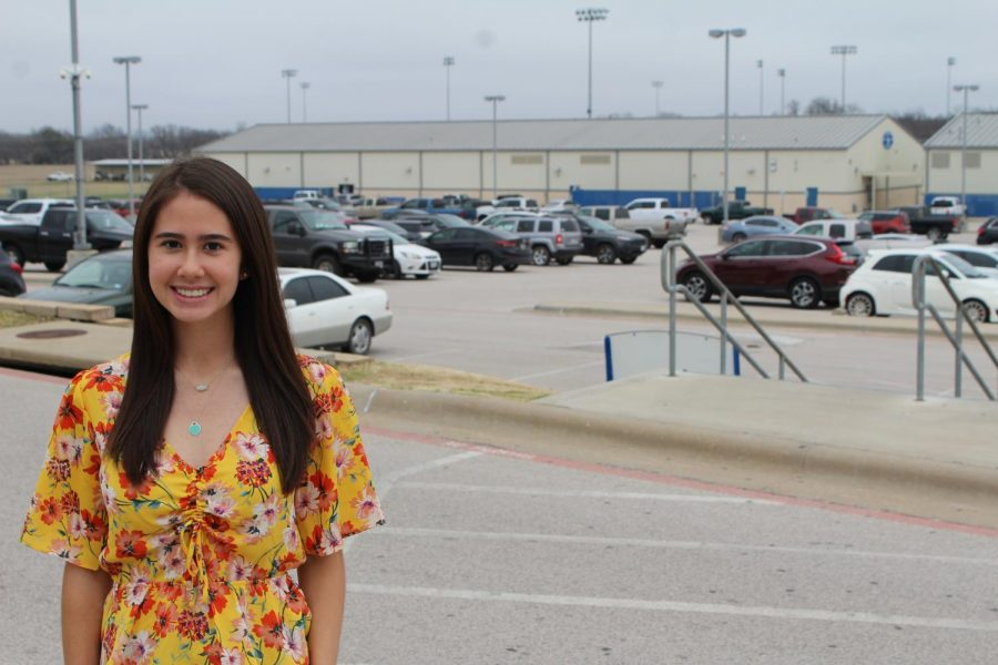 In September, student council vice president Kirsten Richards presented the idea of allowing seniors to paint a parking spot to the school board.