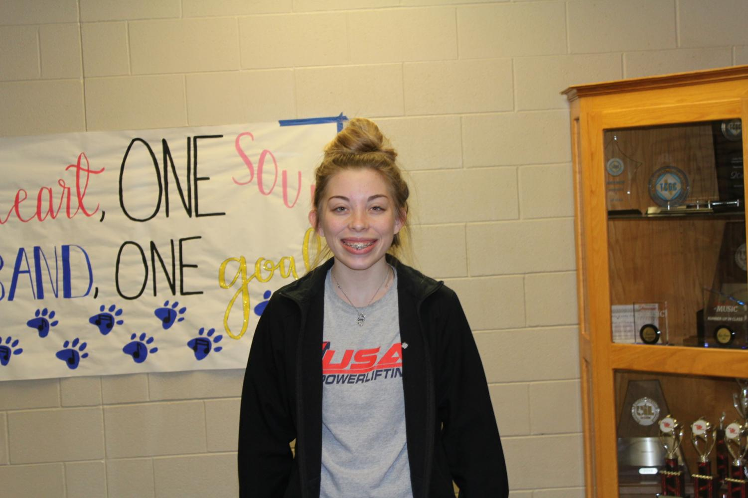 Junior Alyssa (Issa) Ayers placed third in the State Powerlifting Meet as a sophomore in 2019, has broken many records and plans on breaking more this year.