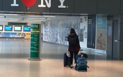 District nurse Donna Clark took this photo of an almost empty JFK International Airport when she arrived in New York City to work on all COVID unit in the spring of 2020.