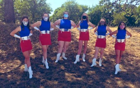 The new JV drill team: the Blue Embers