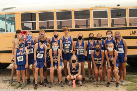 Cross country boys and girls teams placed first at the Lometa meet Sept. 16.