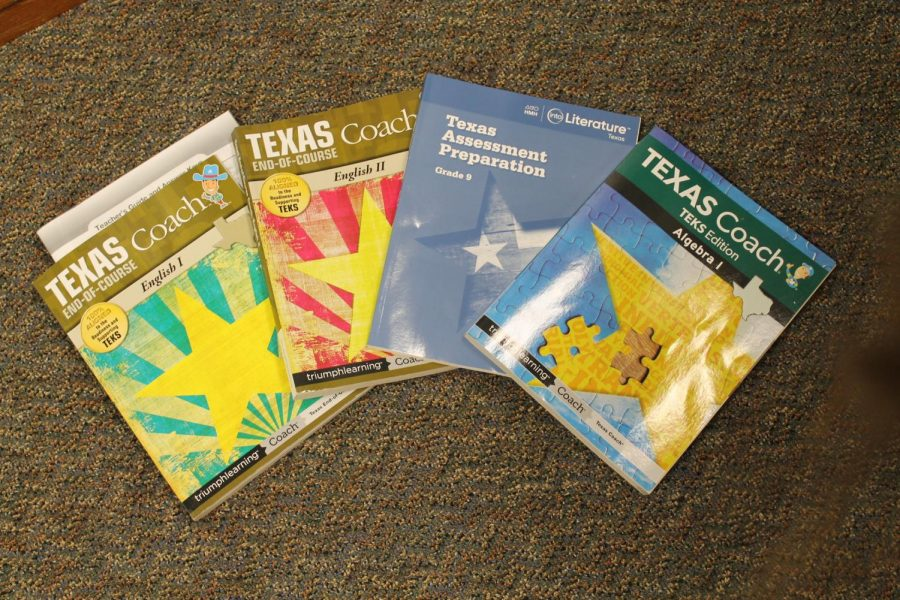STAAR+test+prep+booklets+often+used+to+help+students+prepare+for+the+test.+