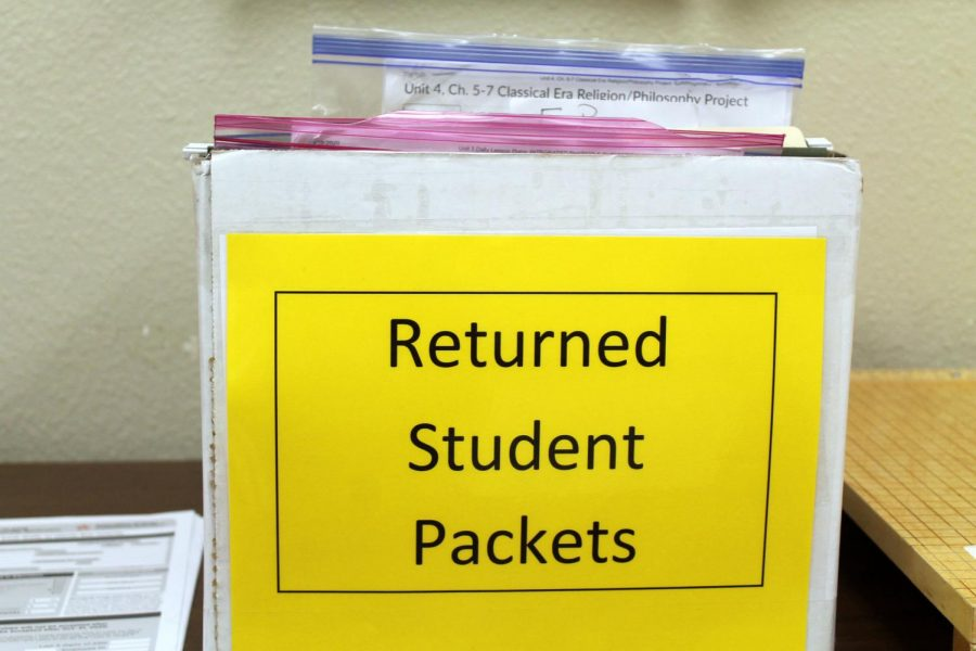On-paper asynchronous students turned their work packets in to the office to wait in the returned student packet box until teachers picked them up. Beginning next week, this option will no longer be available.
