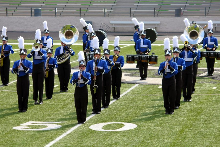 The+band+performs+at+a+competition+in+Burnet+Nov.+14.+They+earned+a+Division+Two+which+is+the+second+highest+rating.+