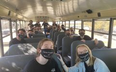 Lampasas Theatre Company students ride the bus to a One Act Play clinic in Marble Falls Feb. 23.