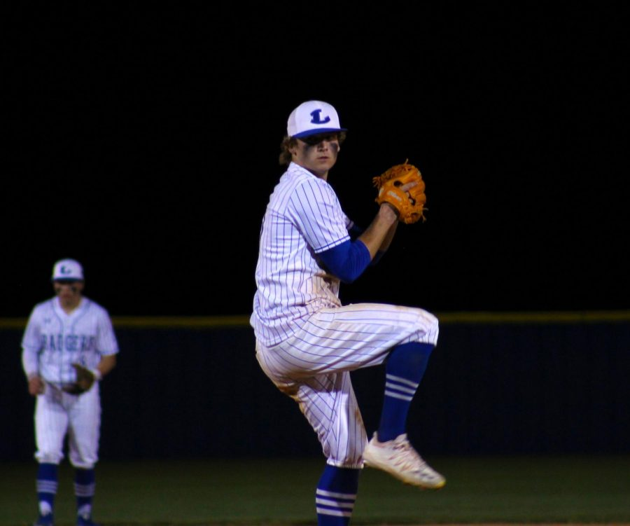Senior and UT commit Ace Whitehead pitches against Gatesville in the district home opener March 9.