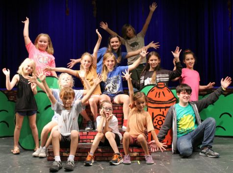 Younger students practice after school Thursday for the upcoming theatre production of You're A Good Man, Charlie Brown.